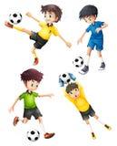 Τέσσερις ποδοσφαιριστές απεικόνιση αποθεμάτων