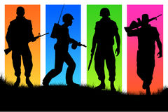τέσσερις στρατιώτες Στοκ φωτογραφία με δικαίωμα ελεύθερης χρήσης