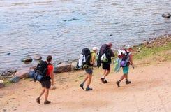Τέσσερις τουρίστες Στοκ Εικόνα