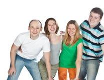 τέσσερις φίλοι ευτυχεί&si στοκ φωτογραφία