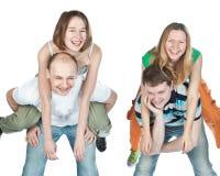 τέσσερις φίλοι ευτυχεί&si στοκ εικόνες
