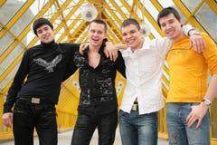 τέσσερις φίλοι στοκ εικόνα με δικαίωμα ελεύθερης χρήσης