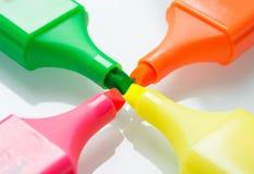 Τέσσερις χρωματισμένοι δείκτες Στοκ Φωτογραφίες