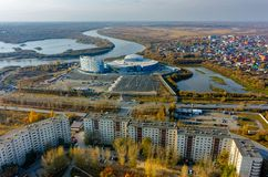 Τέταρτα πόλεων Tyumen και aquapark Ρωσία Στοκ εικόνα με δικαίωμα ελεύθερης χρήσης