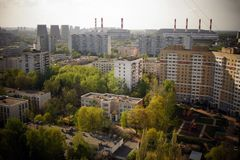 Τέταρτα ύπνου στη Μόσχα, Ρωσία Στοκ εικόνα με δικαίωμα ελεύθερης χρήσης