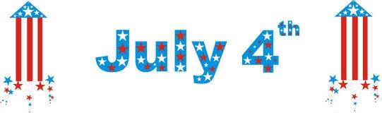 τέταρτη ανεξαρτησία Ιούλιος ημέρας διανυσματική απεικόνιση