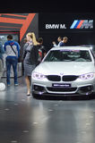 Τέταρτη σειρά της BMW σαλονιών της Μόσχας διεθνής αυτοκινητική μεταλλικός Στοκ Φωτογραφία