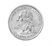 τέταρτο νομισμάτων στοκ εικόνα