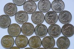 Τέταρτο της Ουάσιγκτον = δολάριο Â ¼ Στοκ Φωτογραφίες