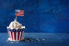 Τέταρτο της Cupcakesης Ιουλίου στοκ φωτογραφίες
