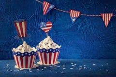 Τέταρτο της Cupcakesης Ιουλίου στοκ εικόνες με δικαίωμα ελεύθερης χρήσης