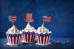 Τέταρτο της Cupcakesης Ιουλίου στοκ φωτογραφίες με δικαίωμα ελεύθερης χρήσης