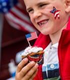 Τέταρτο του Ιουλίου cupcake Στοκ φωτογραφίες με δικαίωμα ελεύθερης χρήσης