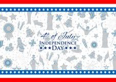 Τέταρτο του υποβάθρου Ιουλίου για την ευτυχή ημέρα της ανεξαρτησίας της Αμερικής Στοκ εικόνες με δικαίωμα ελεύθερης χρήσης