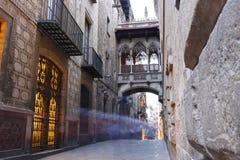 Τέταρτο Gotic Barri της Βαρκελώνης, Ισπανία στοκ εικόνες