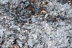 Τέφρες και σκωρίες από το κάψιμο ξύλου και αποβλήτων Στοκ Εικόνες