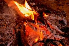 Τέφρες του οργιμένος καυσόξυλου στοκ φωτογραφίες με δικαίωμα ελεύθερης χρήσης