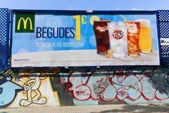 Τέχνες γκράφιτι της Βαρκελώνης Στοκ Εικόνα