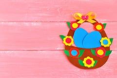 Τέχνες εγγράφου παιδιών για Πάσχα Ευτυχής κάρτα Πάσχας Στοκ εικόνες με δικαίωμα ελεύθερης χρήσης