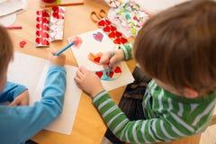 Τέχνες, καρδιές και αγάπη ημέρας βαλεντίνου Στοκ εικόνα με δικαίωμα ελεύθερης χρήσης