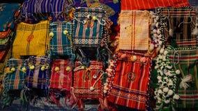 Τέχνες, πολλές ζωηρόχρωμες της μικρής τσάντας ώμων Στοκ Εικόνα