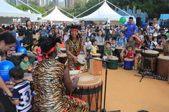 2015 τέχνες της Mardi Gras Χονγκ Κονγκ στο γεγονός πάρκων Στοκ φωτογραφίες με δικαίωμα ελεύθερης χρήσης