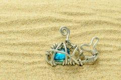 Τέχνες φαλαινών στην άμμο Στοκ Εικόνες