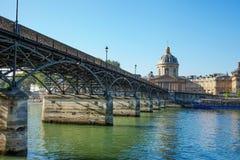 τέχνες des Παρίσι pont Στοκ Εικόνες