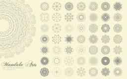 Τέχνες Mandala καθορισμένες στοκ εικόνες με δικαίωμα ελεύθερης χρήσης