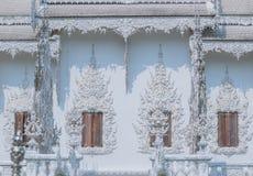 τέχνης έλξης το όμορφο rai khun chiang καλλιεργητικό λεπτό rong αναθέτει το λευκό της Ταϊλάνδης ναών wat Στοκ εικόνες με δικαίωμα ελεύθερης χρήσης