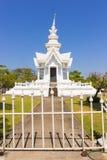 τέχνης έλξης το όμορφο rai khun chiang καλλιεργητικό λεπτό rong αναθέτει το λευκό της Ταϊλάνδης ναών wat Στοκ φωτογραφίες με δικαίωμα ελεύθερης χρήσης