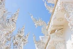 τέχνης έλξης το όμορφο rai khun chiang καλλιεργητικό λεπτό rong αναθέτει το λευκό της Ταϊλάνδης ναών wat Στοκ εικόνα με δικαίωμα ελεύθερης χρήσης