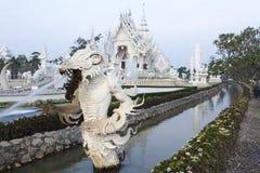 τέχνης έλξης το όμορφο rai khun chiang καλλιεργητικό λεπτό rong αναθέτει το λευκό της Ταϊλάνδης ναών wat Στοκ Φωτογραφίες