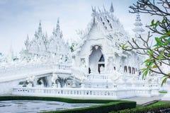 τέχνης έλξης το όμορφο rai khun chiang καλλιεργητικό λεπτό rong αναθέτει το λευκό της Ταϊλάνδης ναών wat Στοκ Εικόνα