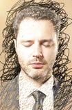 τέχνης ανασκόπησης μαύρο έννοιας μασκών λευκό σημείων χρωμάτων κόκκινο Στοκ φωτογραφία με δικαίωμα ελεύθερης χρήσης