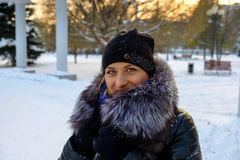 τέχνης ομορφιάς τέλειος χειμώνας makeup μόδας υψηλός βασικός Στοκ φωτογραφία με δικαίωμα ελεύθερης χρήσης