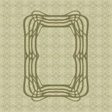 Τέχνης Nouveau ομαλό διανυσματικό πλαίσιο ορθογωνίων γραμμών διακοσμητικό για το σχέδιο Σύνορα ύφους του Art Deco ελεύθερη απεικόνιση δικαιώματος