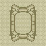 Τέχνης Nouveau ομαλό διανυσματικό πλαίσιο ορθογωνίων γραμμών διακοσμητικό για το σχέδιο Σύνορα ύφους του Art Deco διανυσματική απεικόνιση