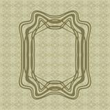 Τέχνης Nouveau ομαλό διανυσματικό πλαίσιο ορθογωνίων γραμμών διακοσμητικό για το σχέδιο Σύνορα ύφους του Art Deco απεικόνιση αποθεμάτων