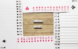Τέχνη έννοιας παιχνιδιών καρτών Blackjack Στοκ Φωτογραφίες