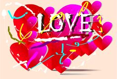 Τέχνη αγάπης υποβάθρου Στοκ Φωτογραφία