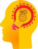 Τέχνη απεικόνισης εκατομμύριο ελαφριού εργαλείου λογότυπων και μυαλού λαμπτήρων με το απομονωμένο υπόβαθρο Στοκ φωτογραφία με δικαίωμα ελεύθερης χρήσης