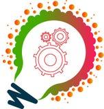 Τέχνη απεικόνισης εκατομμύριο ελαφριού εργαλείου λογότυπων και μυαλού λαμπτήρων εργαλείων με το υπόβαθρο Στοκ φωτογραφία με δικαίωμα ελεύθερης χρήσης