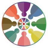 Τέχνη απεικόνισης του λογότυπου επιχείρησης εργασίας ομάδων με το απομονωμένο υπόβαθρο Στοκ εικόνες με δικαίωμα ελεύθερης χρήσης