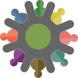 Τέχνη απεικόνισης του λογότυπου επιχείρησης εργασίας ομάδων με το απομονωμένο υπόβαθρο Στοκ Εικόνα