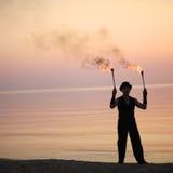 Τέχνη απόδοσης πυρκαγιάς Στοκ φωτογραφία με δικαίωμα ελεύθερης χρήσης