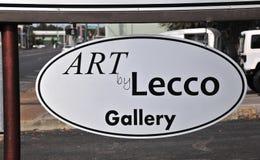 Τέχνη από Lecco Gallery το σημάδι Στοκ εικόνα με δικαίωμα ελεύθερης χρήσης