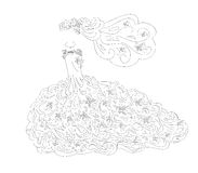 Τέχνη γαμήλιων φορεμάτων Στοκ Εικόνα