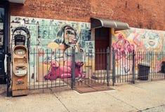 Τέχνη γκράφιτι σε Williamsburg στο Μπρούκλιν Στοκ Εικόνες