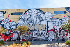 Τέχνη γκράφιτι στο σημείο κυνηγιών, Bronx , NYC Στοκ εικόνα με δικαίωμα ελεύθερης χρήσης